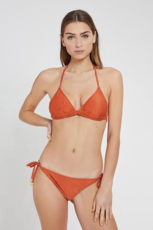 triangel bikini met panter flockprint brique