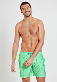 Shiwi zwemshort met Snoopy print neon groen, Neon groen