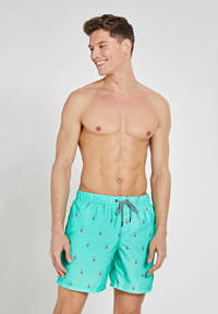 Shiwi zwemshort met raket print turquoise, Turquoise