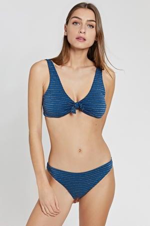 gestreept bikinibroekje Endless Summer donkerblauw/goud