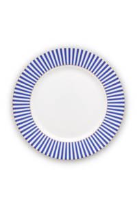 Pip Studio dinerbord Royal Stripes, Blue / White