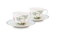 Pip Studio Set/2 Espresso Cups & Saucers Jolie Dots Gold 120ml, White