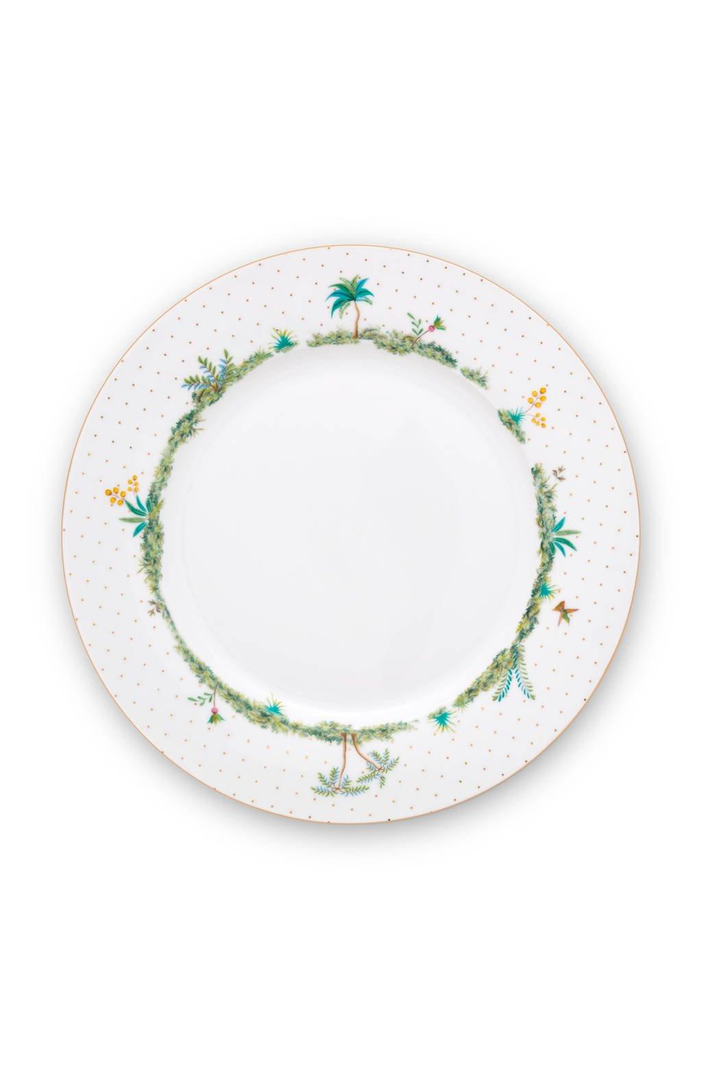 Pip Studio Plate Jolie Dots Gold 26.5cm, White