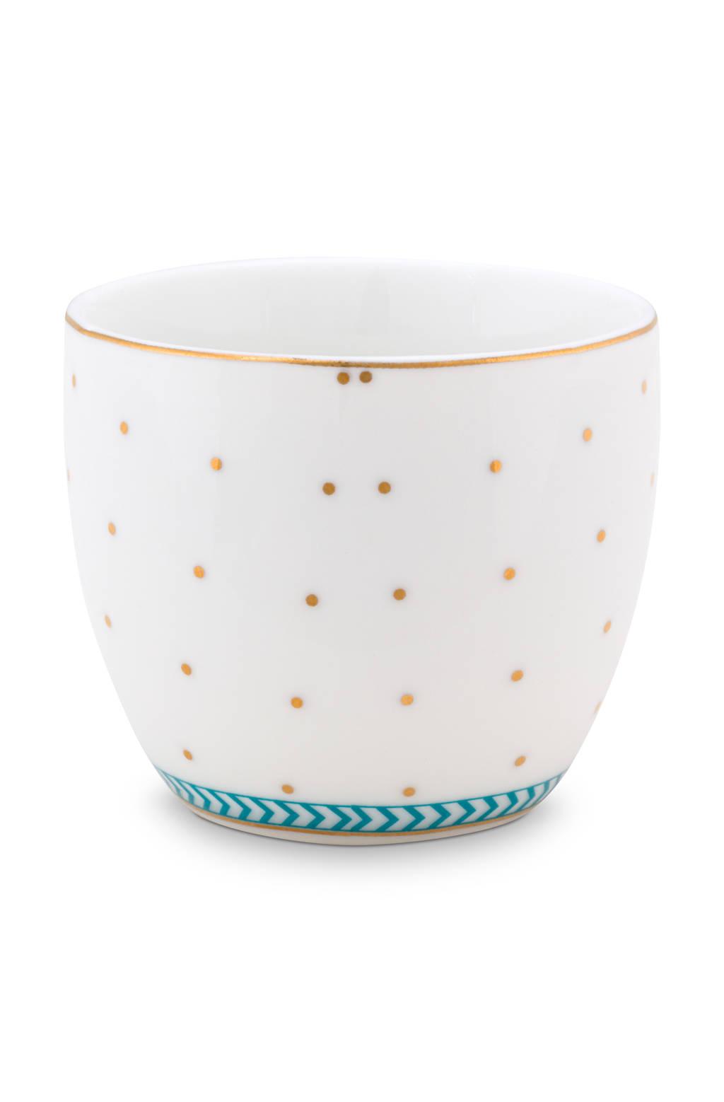 Pip Studio Egg Cup Jolie Dots Gold, White