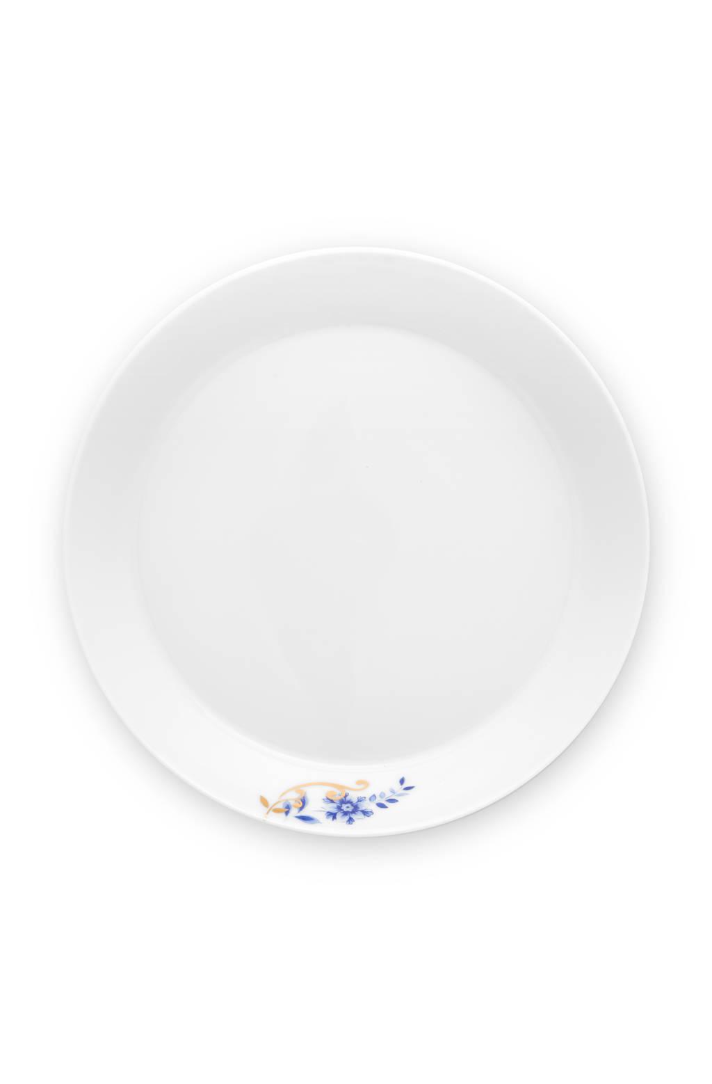 Pip Studio Deep Plate Royal Stripes 21.5cm, Blue / White