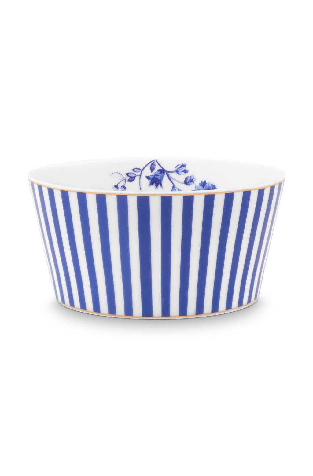 Pip Studio Bowl Royal Stripes 12cm, Blue / White
