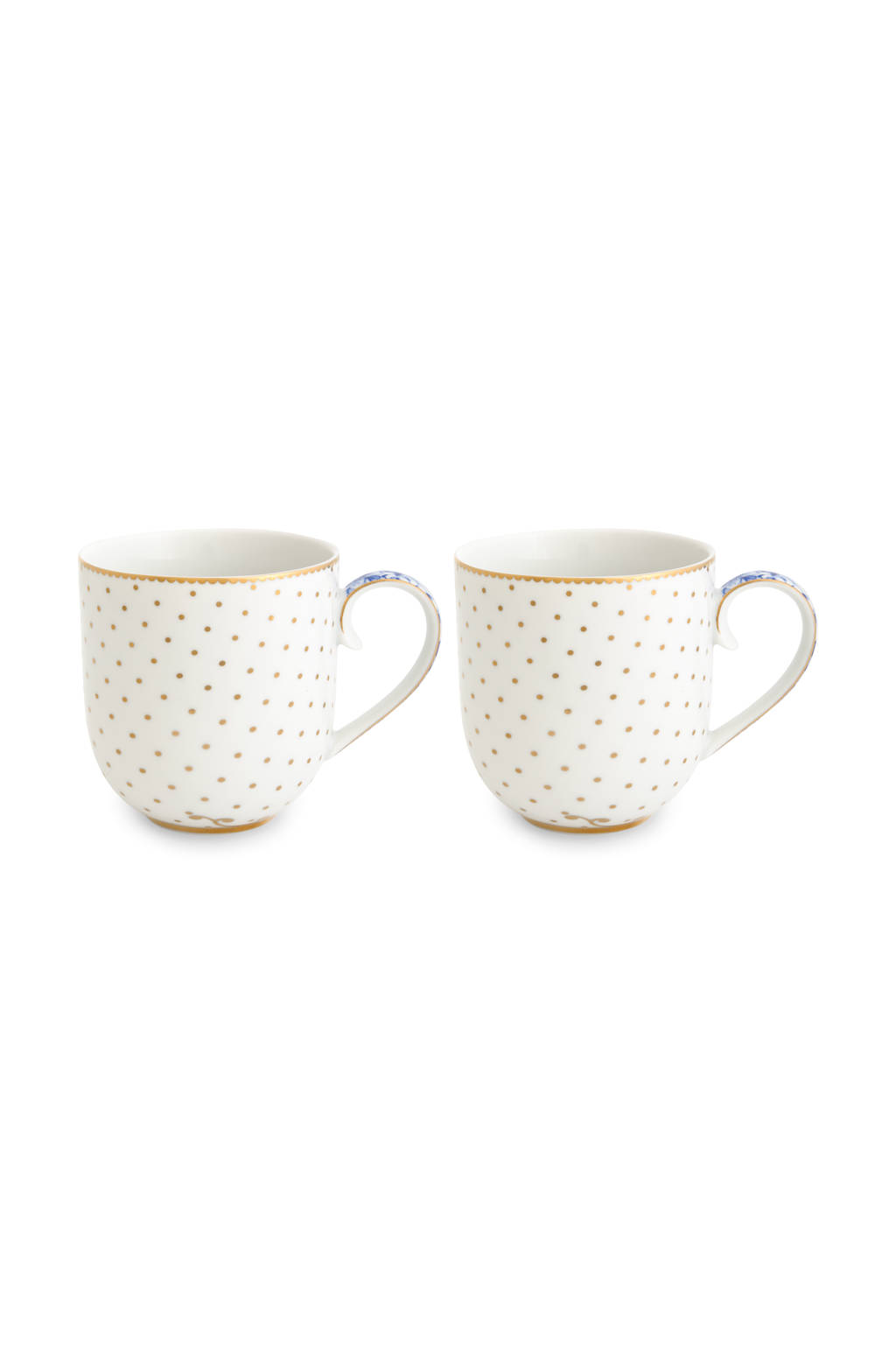 Pip Studio Set/2 Mugs Small Royal White 260ml