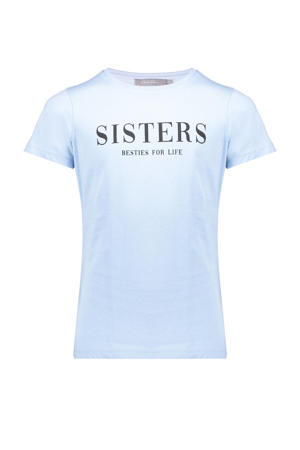 T-shirt met tekst lichtblauw