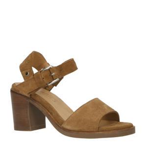 suède sandalettes bruin