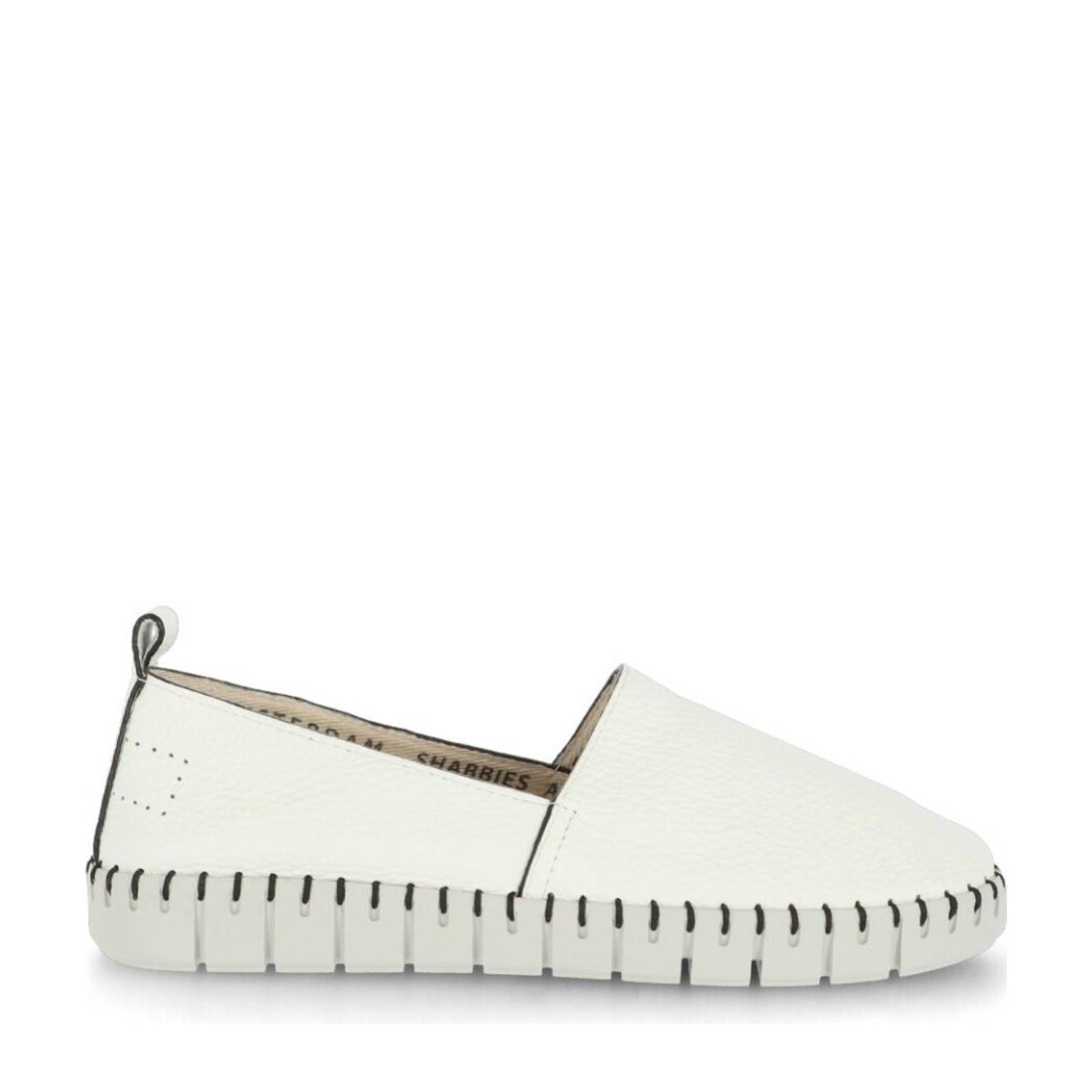 Shabbies Amsterdam leren loafers wit online kopen
