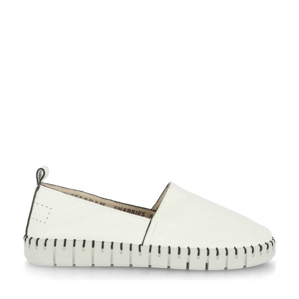 Shabbies Amsterdam   leren loafers wit, Wit