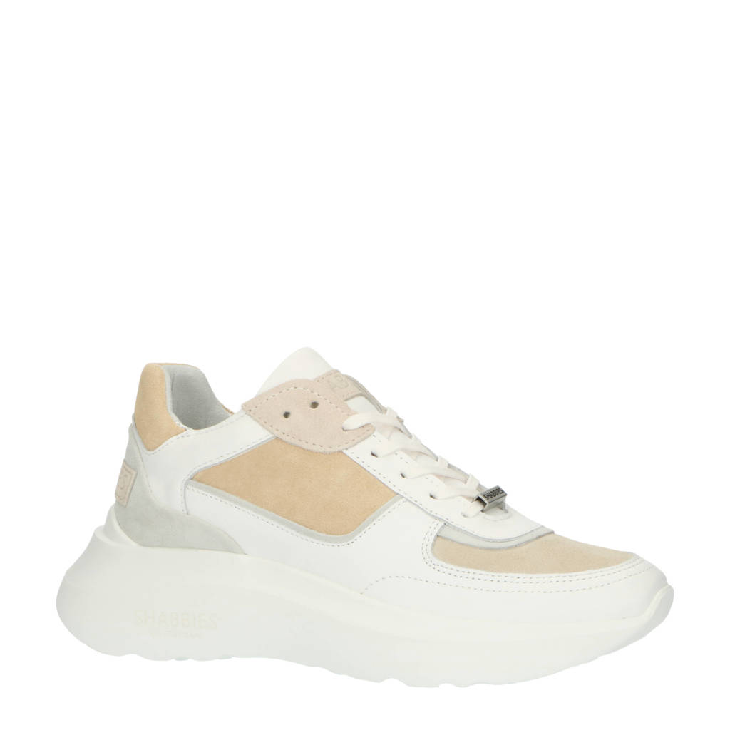 Shabbies Amsterdam   chunky sneakers wit/beige, Wit/beige