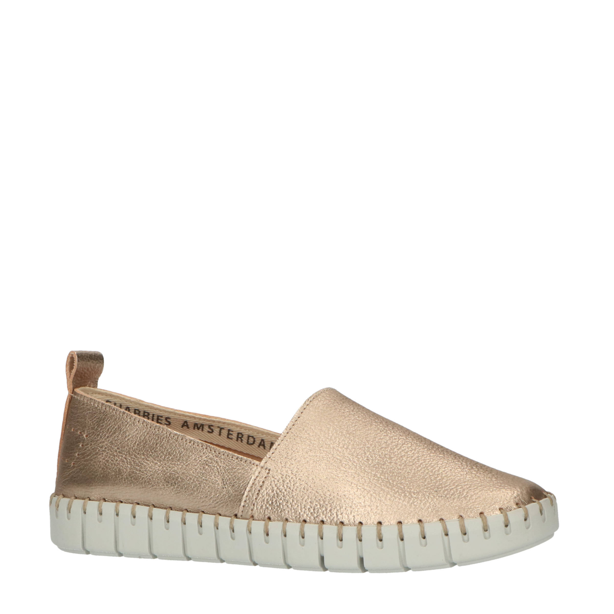 Shabbies Women 120020038 loafer shiny leather gold online kopen