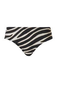 TC WOW hipster bikinibroekje met zebraprint zwart/wit, Zwart/wit