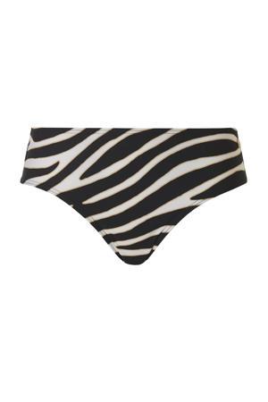 hipster bikinibroekje met zebraprint zwart/wit
