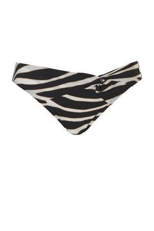 bikinibroekje met zebraprint zwart/wit