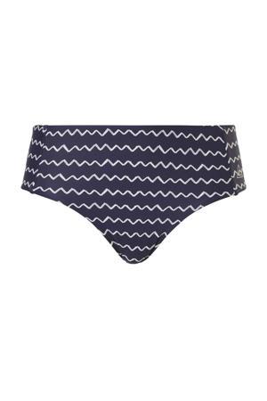 corrigerend bikinibroekje met all over print donkerblauw/wit