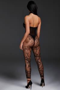 Hunkemöller Private kanten bodysuit zwart, Zwart