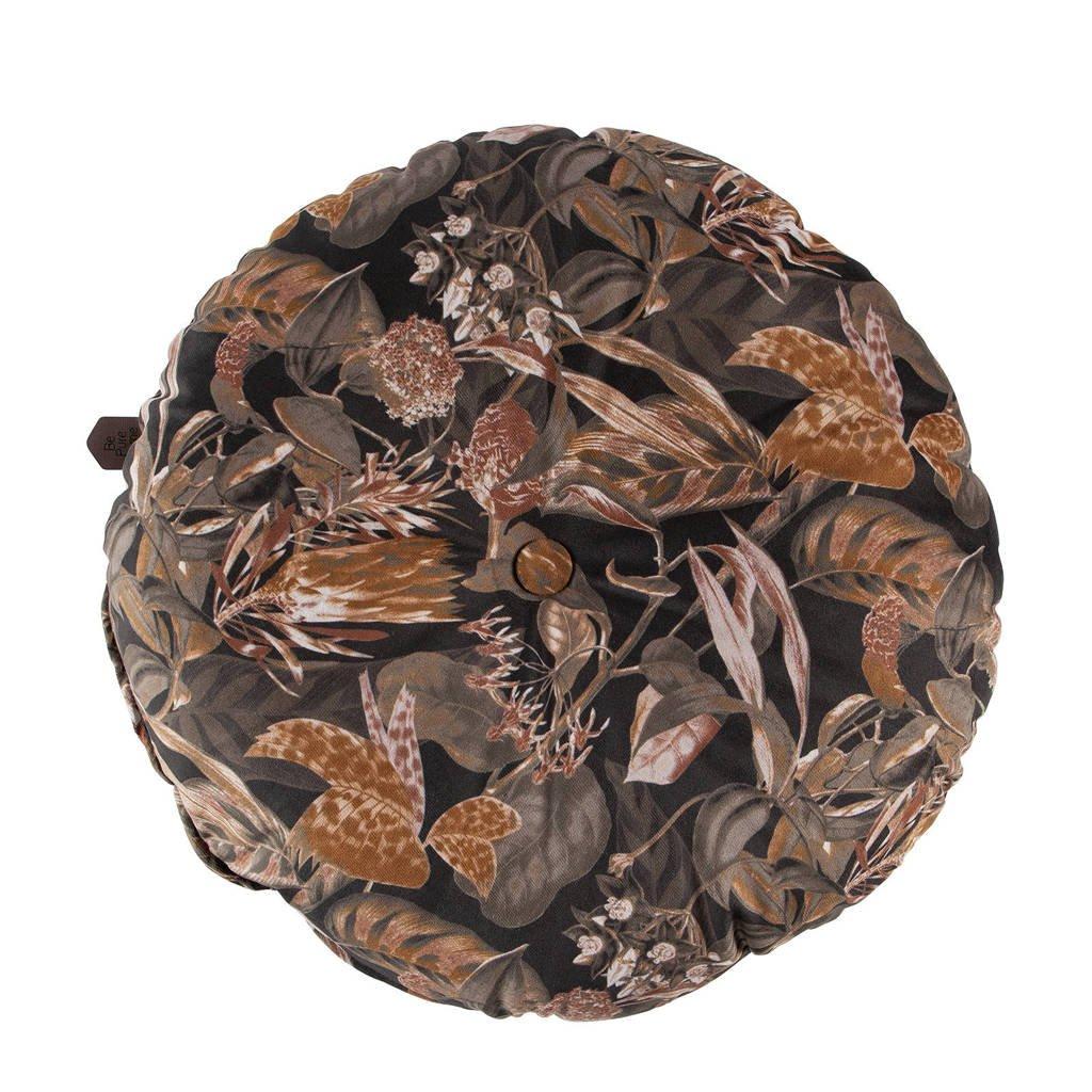 BePureHome sierkussen Vogue (Ø45 cm), ø45, Zwart/bruin