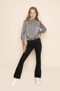 Frankie&Liberty high waist flared broek Suzy met studs zwart, Zwart