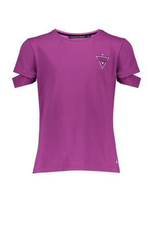 T-shirt Sienna met printopdruk paars