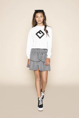 sweater Siena met printopdruk wit