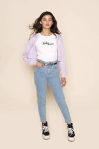 Frankie&Liberty T-shirt Sally met tekst wit, Wit