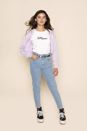 T-shirt Sally met tekst wit