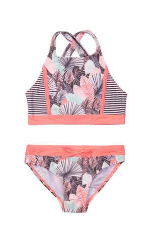 crop bikini Tropic roze