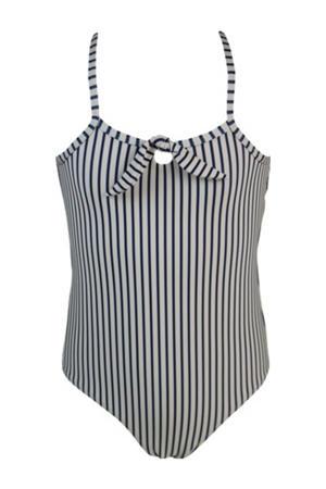 gestreept badpak Stripes & Dots blauw/beige