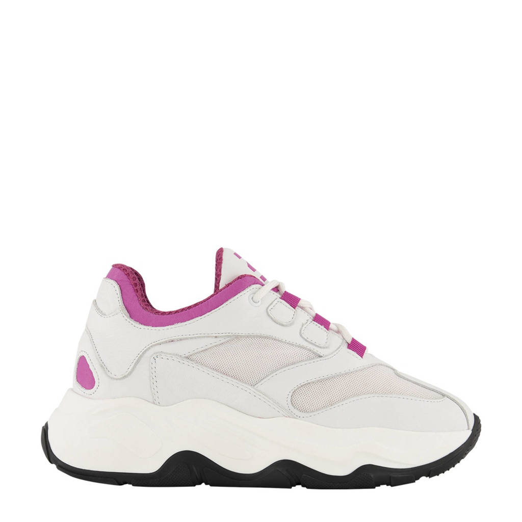 NIKKIE Blix  chunky sneakers off white/roze, Off white/roze