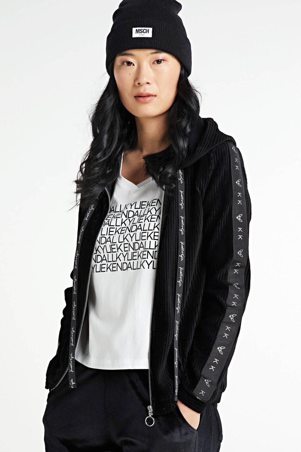 Kendall + Kylie fluwelen vest zwart, Zwart
