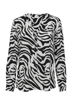 top JDYTRACK met zebraprint zwart
