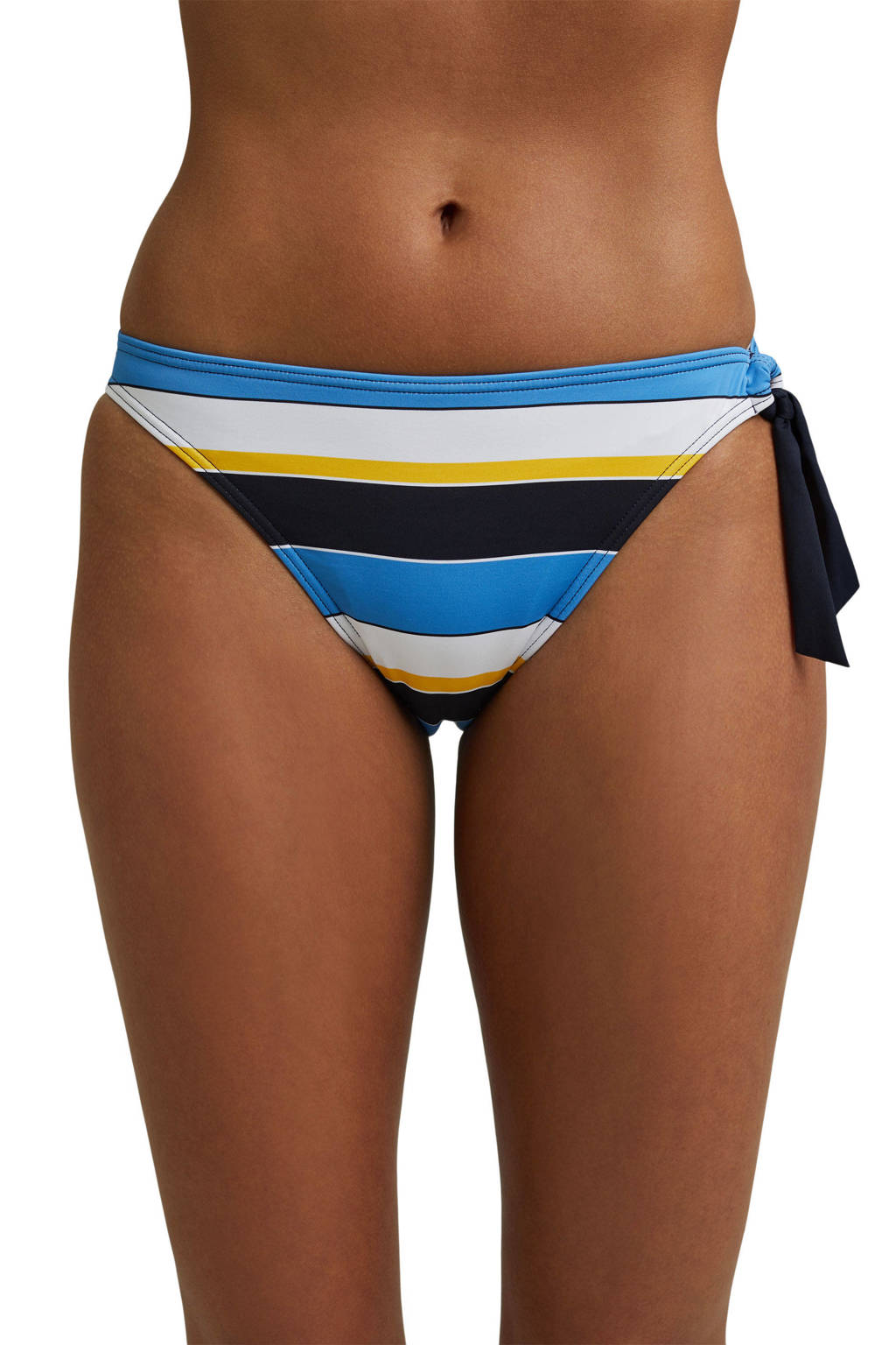 ESPRIT Women Beach gestreept strik bikinibroekje Brendon donkerblauw/blauw/wit, Donkerblauw/blauw/wit