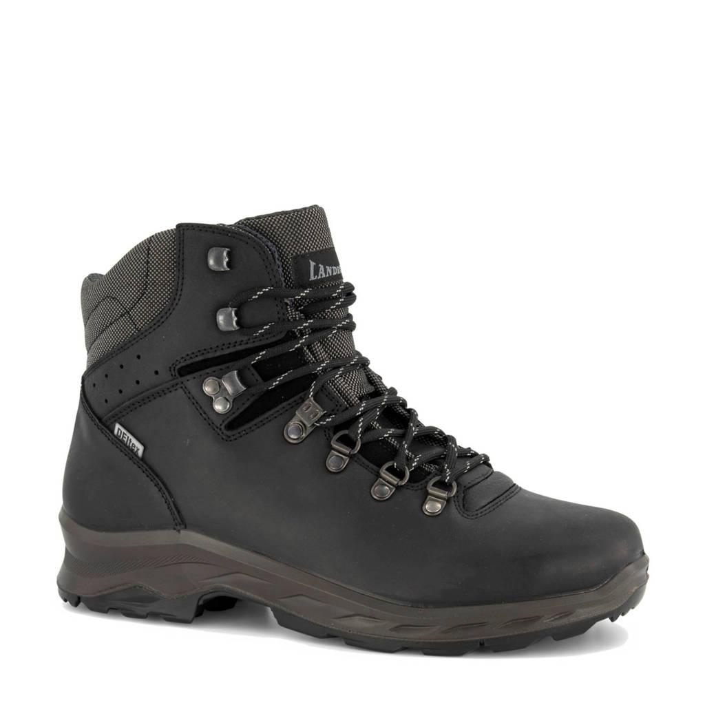 Landrover   leren wandelschoenen zwart, zwart/donkerbruin