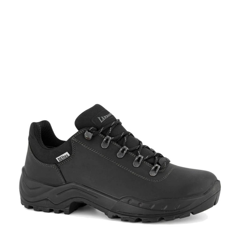 Landrover   leren wandelschoenen zwart, Zwart