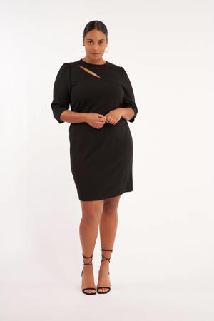 jurk met open detail zwart
