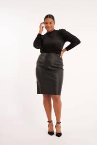 MS Mode coated rok zwart, Zwart
