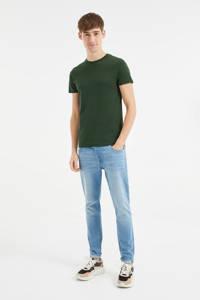 WE Fashion T-shirt met biologisch katoen groen, Groen