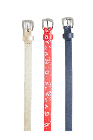 riem - set van 3 wit/rood/blauw