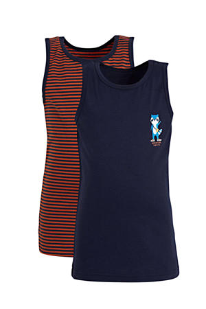 hemd - set van 2 donkerblauw/donkerrood