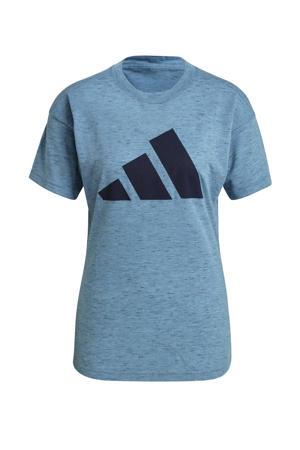 2.0 Sportwear sport T-shirt blauw