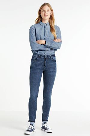 high waist super skinny jeans Jacky misty blue