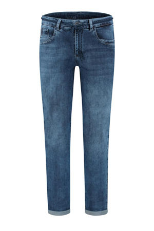 high waist straight fit jeans Bobby cloudly blue