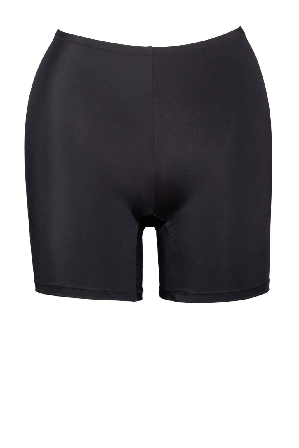 Plaisir +size bikinibroekje met pijpjes zwart, Zwart
