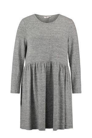 gemêleerde jurk Clarice lichtgrijs