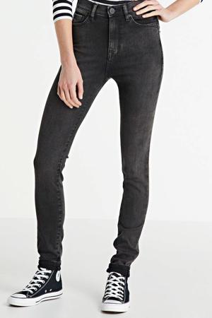 high waist skinny jeans black moon