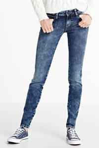 Yellow Blue Denim mid waist super skinny jeans Yuliya light blue, Light Blue
