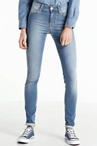 Yellow Blue Denim high waist skinny jeans New Soph Jog iris blue, Iris blue
