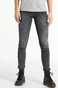 Yellow Blue Denim mid waist super skinny jeans Yuliya grey moon, Grey Moon